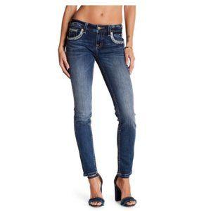 Miss Me Mid-Rise Dark Wash Skinny Jeans Sz. 30
